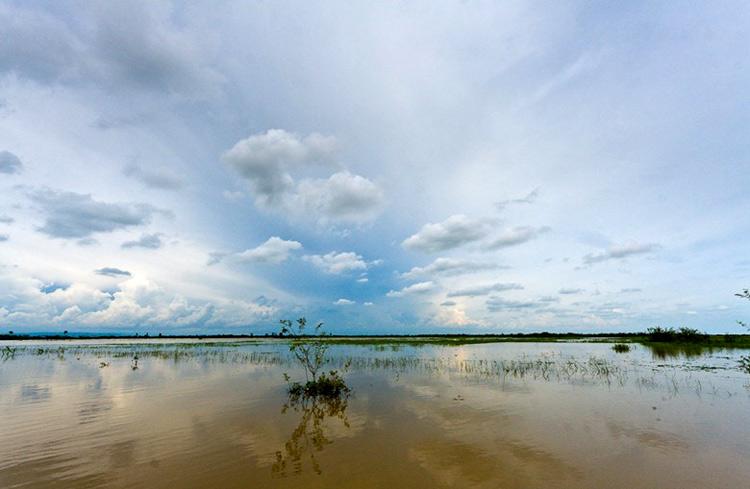 Khung cảnh sông nước mênh mông ở Kompong Phluk - Campuchia